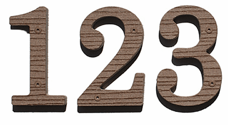 Ten Inch Wooden House Numbers