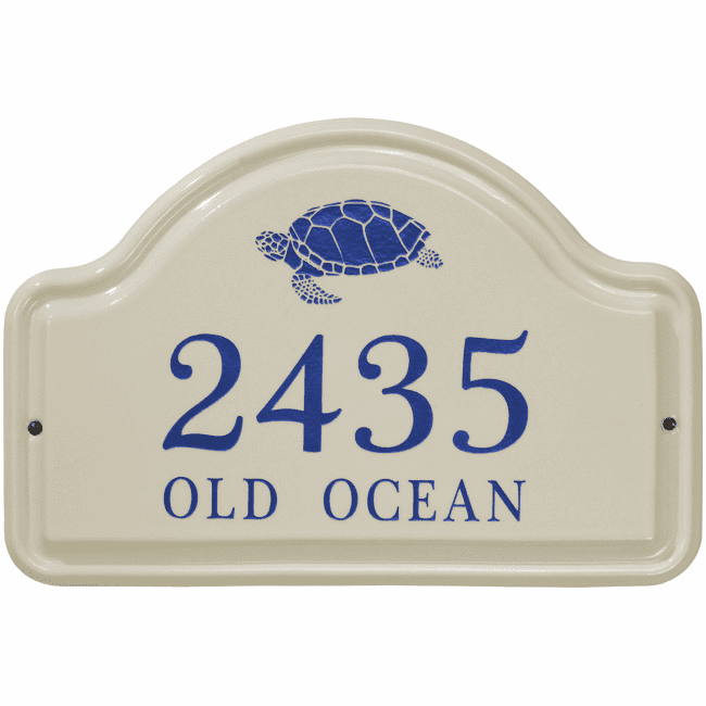 Turtle Arch Standard Wall Ceramic Address Plaque