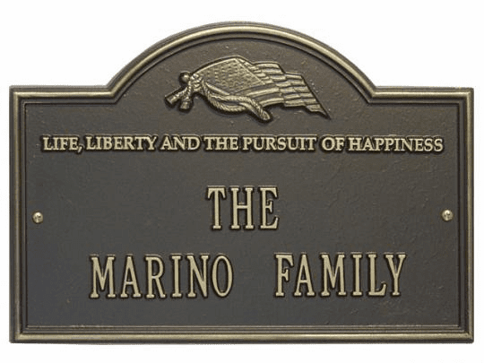Two Line Life and Liberty Plaque