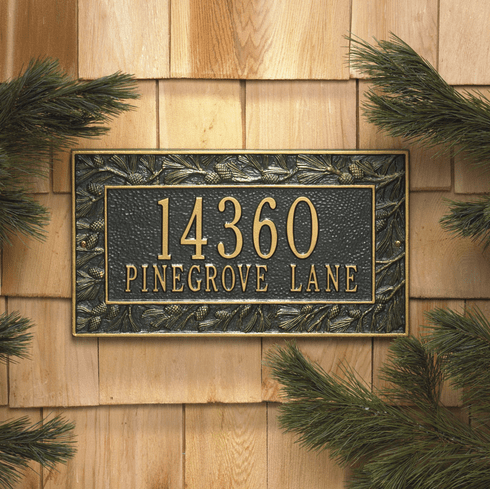 Two Line Pine Cone Plaque