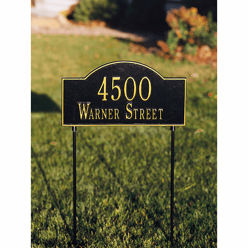 Two-Sided Arch Lawn Address Marker