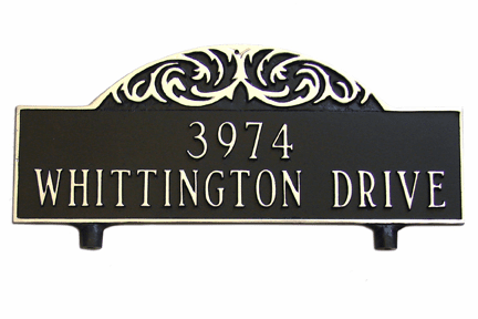 Two Sided Decorative Mailbox Arch Plaque