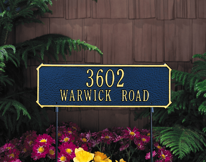 Two Sided Lawn Address Sign
