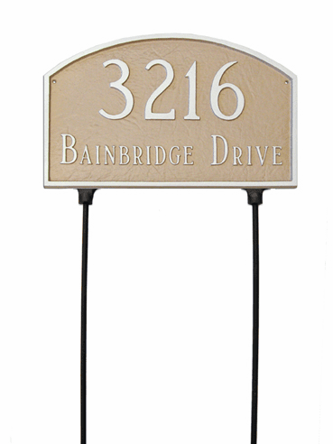 Two Sided Prestige Arch Address Plaque