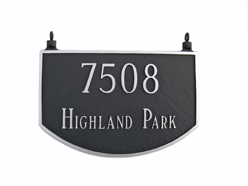 Two Sided Prestige Hanging Arch Address Plaque
