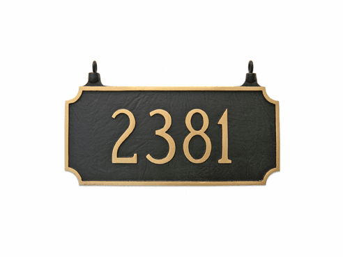 Two Sided Princeton Hanging Address Plaque