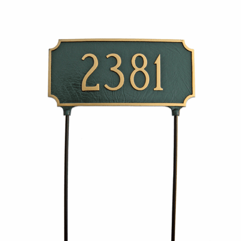 Two Sided Princeton Lawn Address Sign