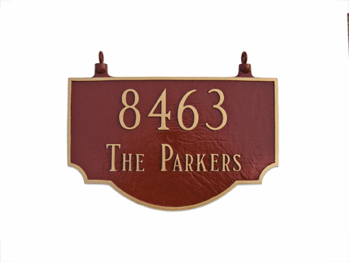 Two Sided Vanderbilt Hanging Address Plaque