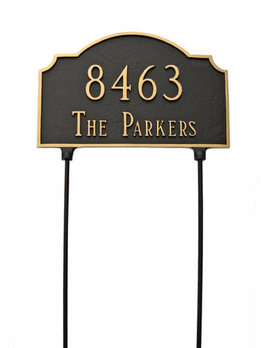 Two Sided Vanderbilt Lawn Address Sign