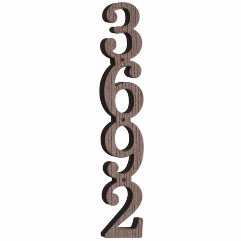 Vertical Address House Numbers