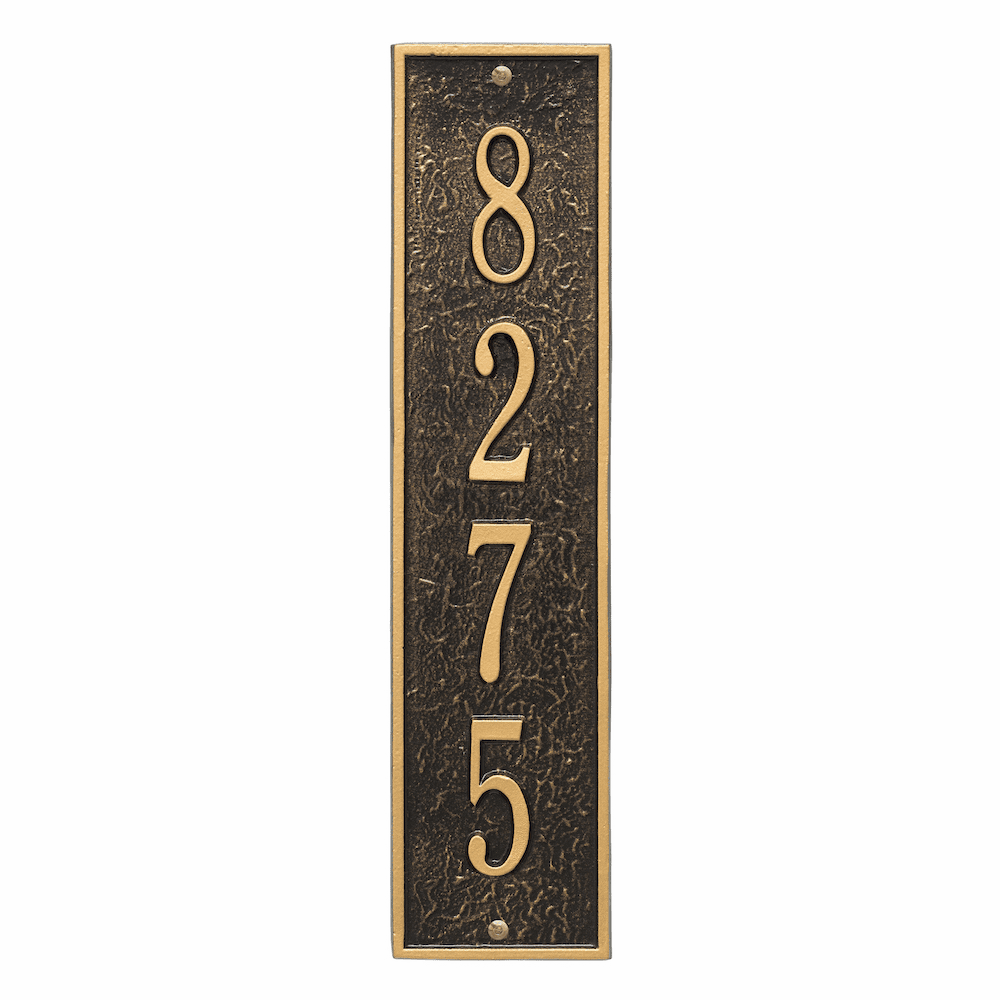 Vertical Delaware House Number Sign