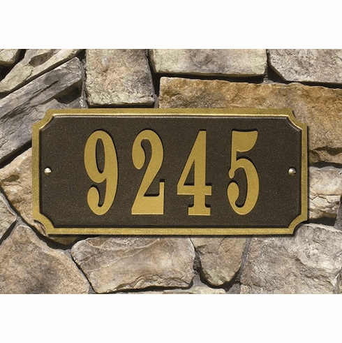 Waterford Rectangle Address Plaque