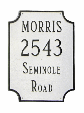 Waterford Wall Address Plaque