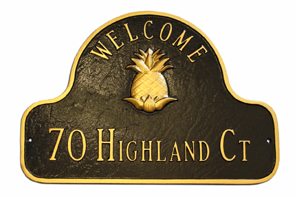 Welcome Pineapple Address Plaque