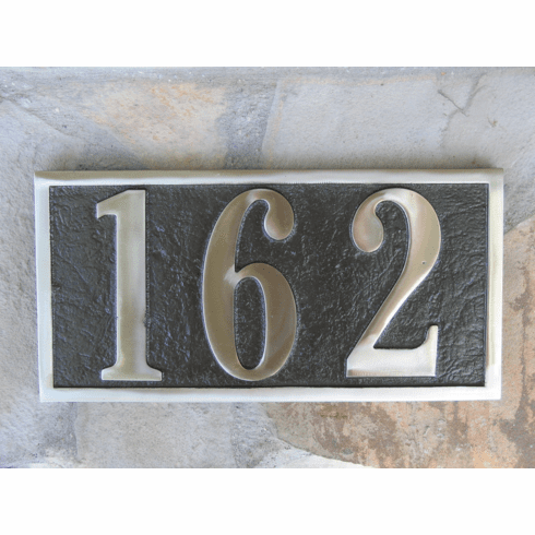 White Bronze Address Plaque