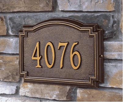 Williamsburg Classic Address Plaque