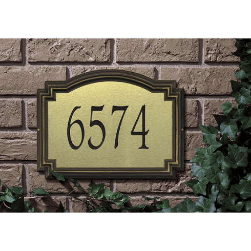 Williamsburg Estate Artisan Metal Address Plaque