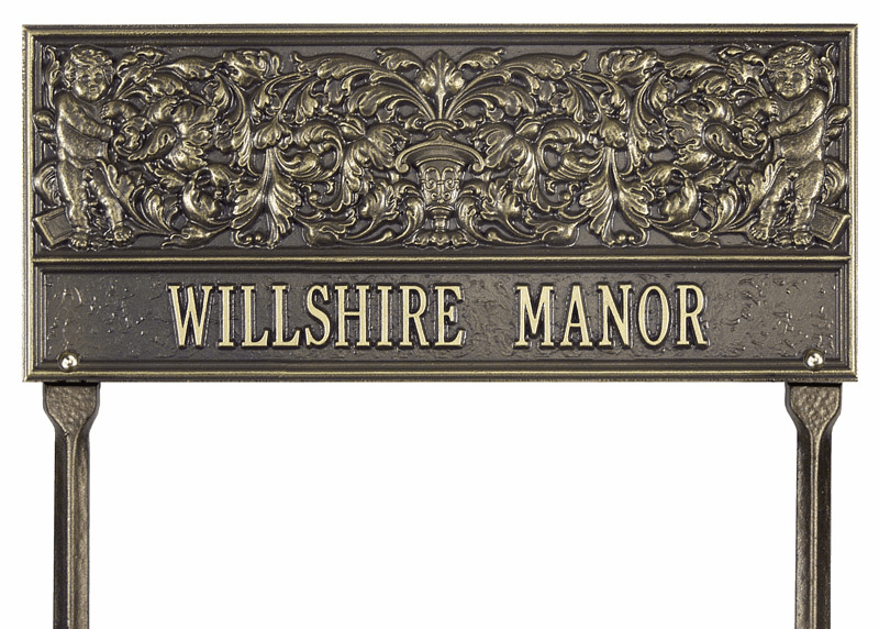 Willshire Manor Standard Lawn Address Sign
