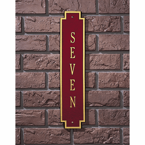 Windsor Standard Vertical Address Plaque