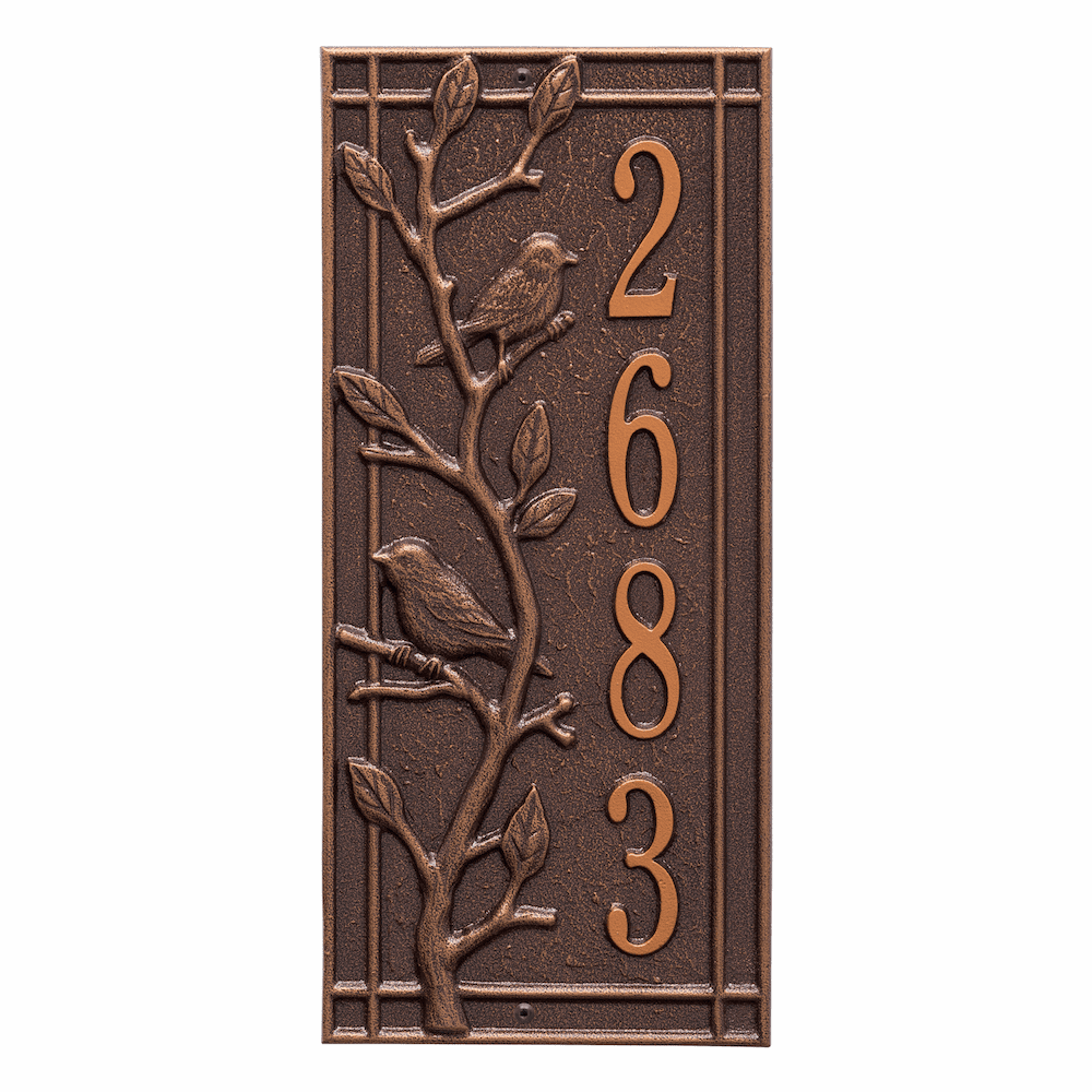 Woodbridge Bird Vertical Number Plaque