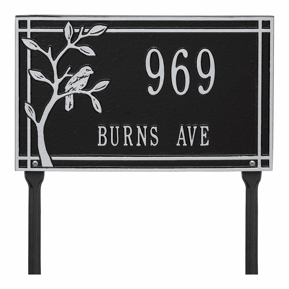 Woodridge Bird Lawn Address Marker