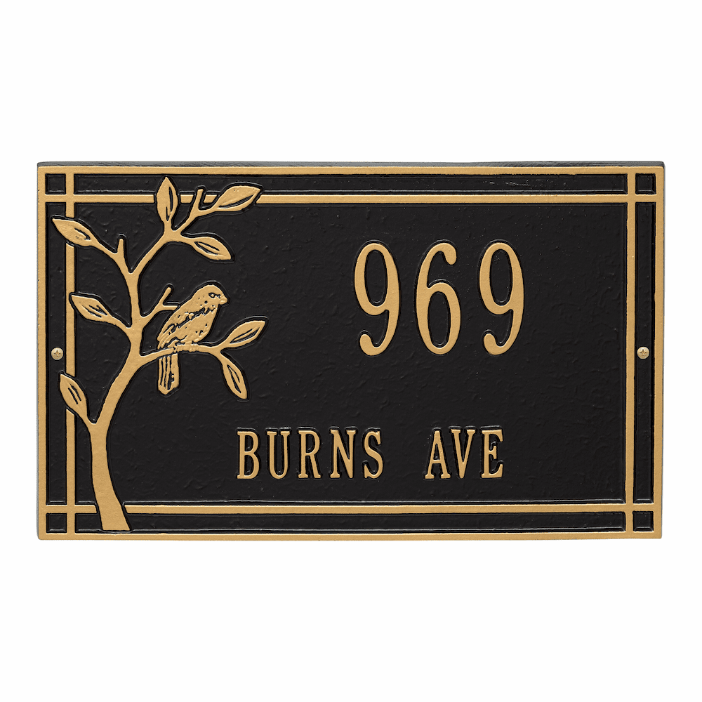 Woodridge Bird Wall Address Plaque