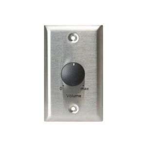 Lowell 100LVC-PA Attenuator-Priority-100W 70V/25V 1-gang Stainless Steel