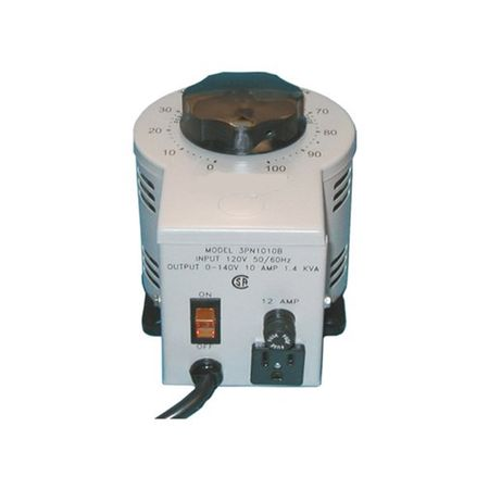 Staco 2520CT-3 - Variable Transformer, 3 Phase WYE input, 10Ao, 0-480Vo, 8.3kVA, Cased, Bench or Panel Mt