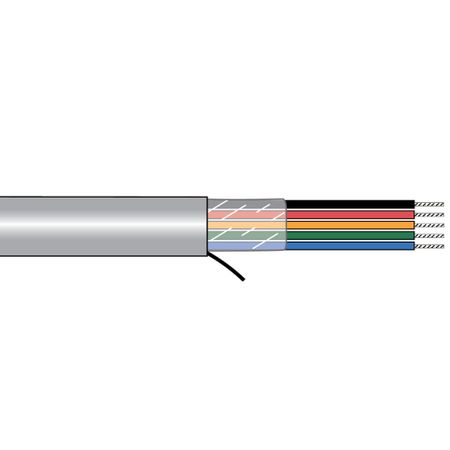 Alpha Wire 5073/1C SL005 - Cable 5073/1C Slate 100 Ft