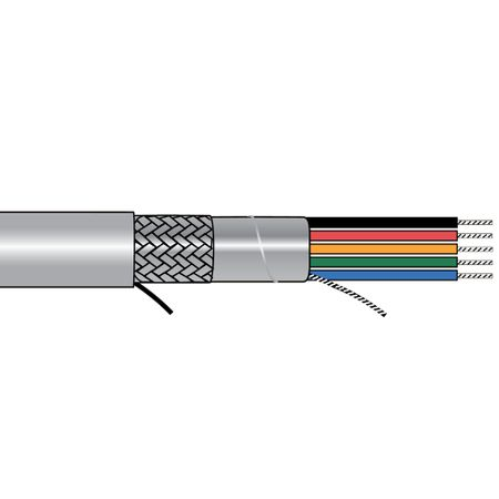 Alpha Wire 5102C SL005 - Cable 5102C Slate 100 Ft