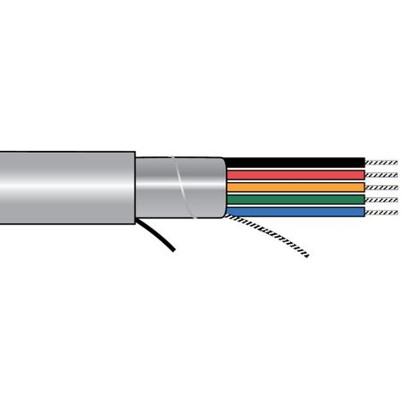 Alpha Wire 5386C SL005 - Cable 5386C Slate 100 Ft