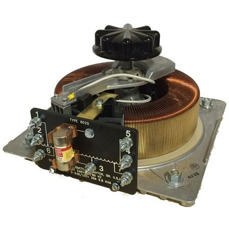 Staco 6020-2P - Variable Transformer, Single Phase Parallel, 70Ao, 0-280Vo, 19.6kVA, Open, Panel Mt