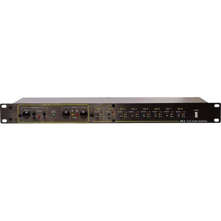 Whirlwind AB-8 - Switcher - Microphone / Line Level, 8-channel, DB25 I/O, manual / auto switching, 1 RU