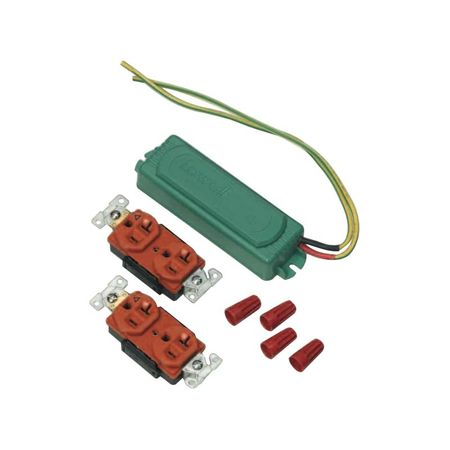 Lowell AC-GTF20-IG Ground Transient Filter Kit-20A 2 Iso-Gnd Duplex Outlets