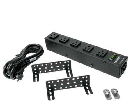 Lowell ACS-1505-SW Compact Power Strip, 5 (15 Amp) Outlets, 6ft cord.