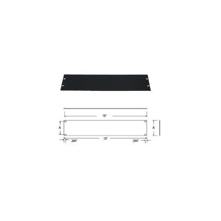 Lowell AFPB-4 Rack Panel-Blank-4U Flat Brushed Black Anodized Aluminum