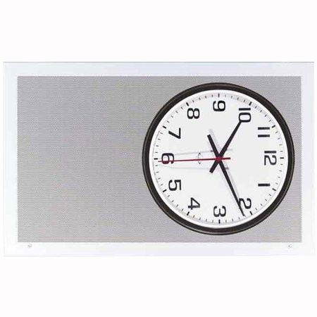 Lowell AP-700 Grille-Clock/Speaker Steel Surface 26in L x 14.5in H White