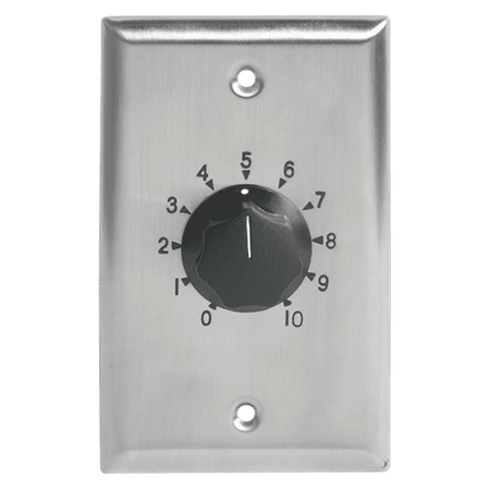 Atlas Sound AT10-PA - Deluxe Priority, Plate Mounted 10W Attenuator w/Priority Relay, 3dB Steps