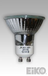 Eiko BAB-FG-GU10-120V 120V 20W 38 Deg. Flood MR16 GU10 Base - Halogen