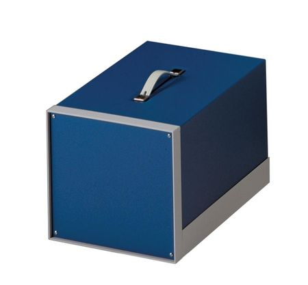 Bud Industries BB-1801-RB - Small Metal Electronics Enclosures-BB18 series-Showcase Small Cabinet-L11 X W6 X D8