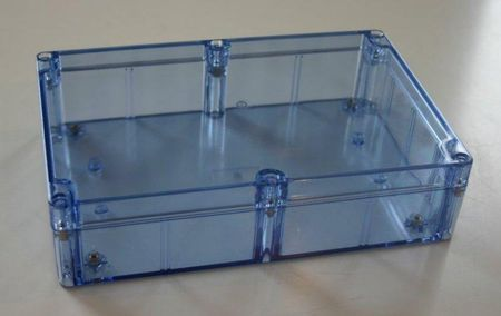 Bud Industries BT-2734 - NEMA 4X Enclosures-BT series-NEMA 4X Blue Transparent-L8 X W5 X D3
