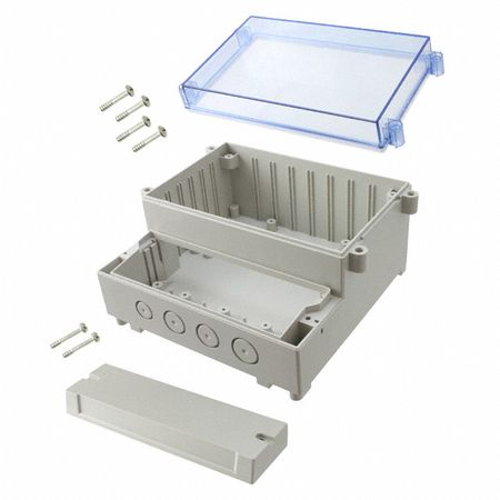 Bud Industries DCH-11924 - NEMA Boxes-DCH series-Sealed Dual-Compartment Enclosure hinged-L11 X W12 X D6