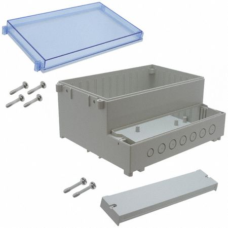 Bud Industries DCS-11903 - NEMA Boxes-DCH series-Sealed Dual-Compartment Enclosure hinged-L9 X W10 X D5