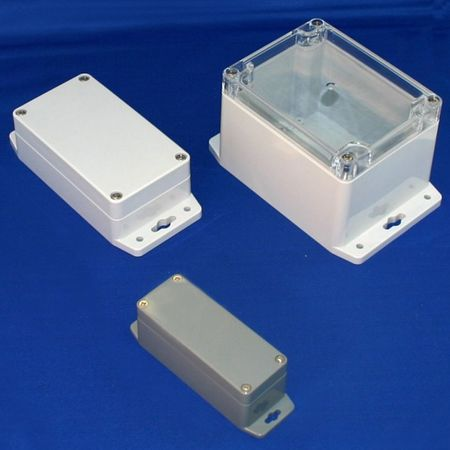 Bud Industries PN-1332-MB - NEMA 4X Enclosures-PN series-Plastic NEMA 4X With Mounting Brackets-L6 X W3 X D2