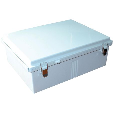 Bud Industries PTQ-11073 - NEMA 4X Enclosures-PTQ series-NEMA 4X,6, IP67 with 10% fiberglass-L18 X W14 X D6