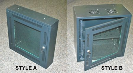 Bud Industries WNC-5641 - Electronics Cabinets-WNC series-Wall Mount Network Cabinet-L24 X W24 X D12