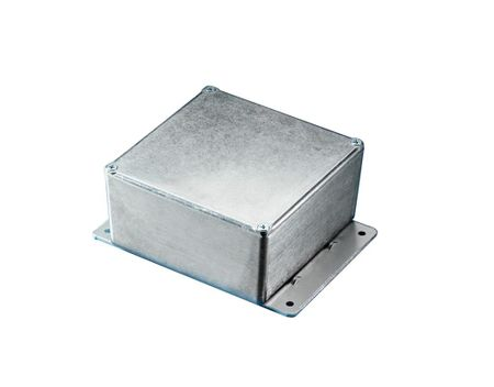 Bud Industries CU-4123, L4 X W1 X D2, Die Cast Aluminum Enclosure, Econobox with Mounting Bracket
