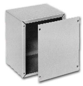 Bud Industries CU-879 - Small Metal Electronics Enclosures-AU series-Utility Cabinets Aluminum-L10 X W8 X D7
