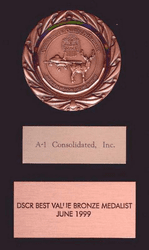 DSCR Bronze Medalist Award 1999 for A-I Consolidated