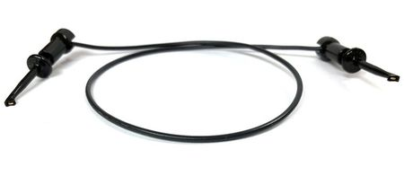 "E-Z Hook 204XM-12BLK - XM micro-hook jumper 12"" test lead, black"